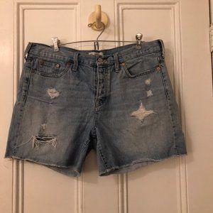 Madewell Rigid Distressed Denim Shorts